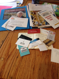 Still life with business cards